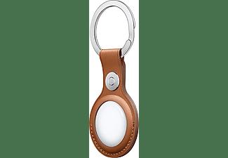 Apple llavero para AirTag MX4M2ZM/A, Llavero de piel, Marrón caramelo