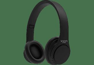 Auriculares inalámbricos - Vieta VHP-BT120BK, Diadema, Bluetooth, Radio FM, Negro