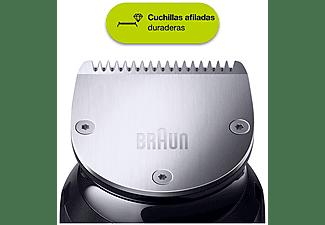 Barbero - Braun, BT7240 Para Hombre, Cuchillas Metálicas Afiladas Larga Duración, Negro