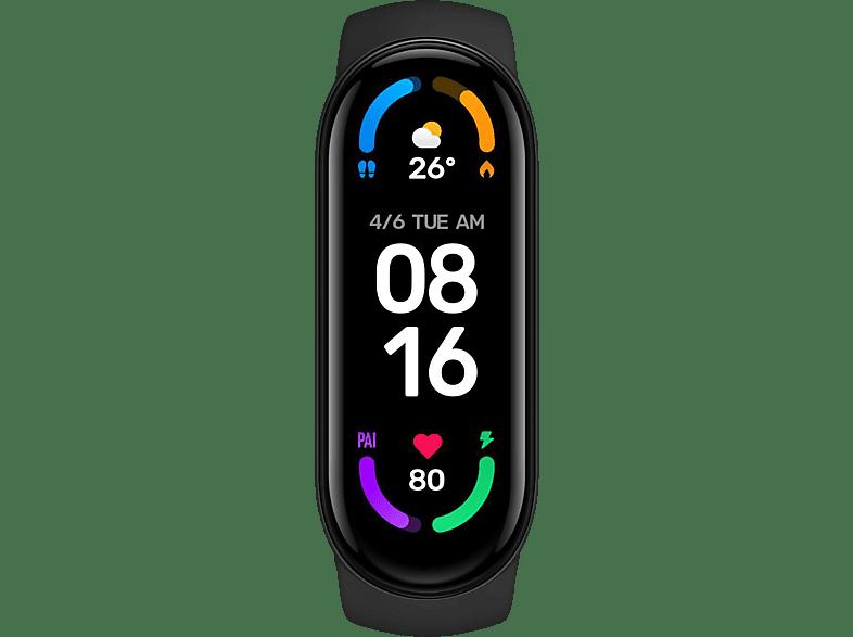 Xiaomi Mi Band 6, Fitnesstracker, 95 mm / 110 mm, Black