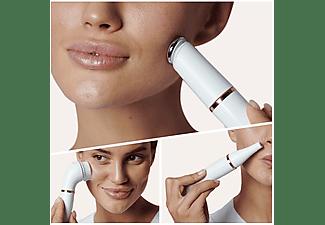 Depiladora facial - Braun FaceSpa Pro911, Máquina De Depilar Facial, 3Accesorios, Blanco/Bronce