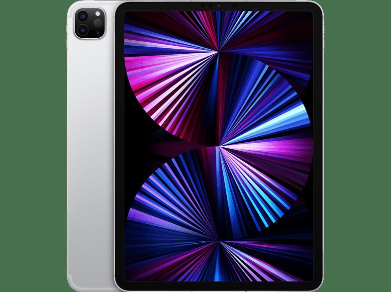 Apple iPad Pro (2021) Wi-Fi + Cellular Tablet (11, 128 GB, Silver)