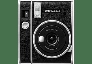 Cámara instantánea - Fujifilm Fuji Mini 40, Con película, Modo Selfie, ISO 800, Retro, Negro