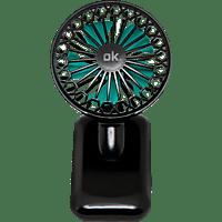 OK. OCHF 100 Mini Clip Tischventilator Gelb, Pink, Grün, Blau (2 Watt)