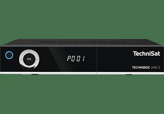 TECHNISAT TECHNIBOX UHD S Sat Receiver (PVR-Funktion, Twin Tuner, DVB-S, DVB-S2, Schwarz)