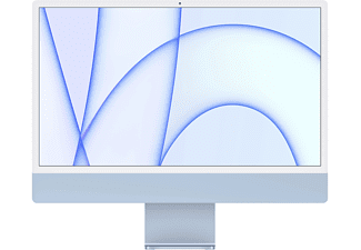 APPLE iMac 24 Zoll, M1 Chip 8-Core und 8-Core GPU, 8GB RAM, 256GB SSD, Retina 4.5K, Blau