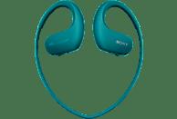 Reproductor MP3 deportivo - Sony Walkman NW-WS413,Almacenamiento interno (4GB), 12h Autonomía, Acuático, Azul