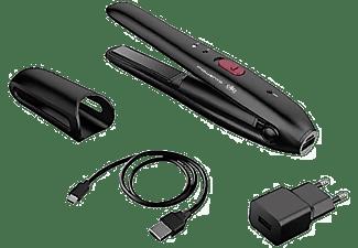 Plancha de pelo -  Rowenta SF1312F0, Mini, Sin cable, 25 min autonomía, Negro