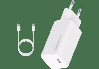 Cargador - Xiaomi Mi 65W Fast Charger, Universal, Tecnología GaN, Carga rápida 65 W, Blanco