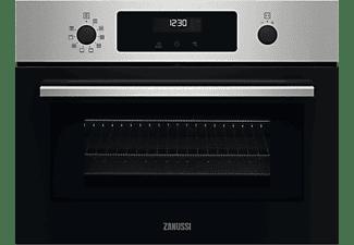 Horno - Zanussi ZVEKM6X2, 43 l, Multifuncional, Esmalte fácil de limpiar, 1900 W, Pantalla LED, 59.5 cm, Inox