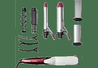 Moldeador -  Babyliss Multi-styler 10 en 1 MS22E -  170ºC, Riza, Ondula, Alisa, Rojo