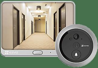 "Mirilla inteligente - Ezviz DP1C, WiFi, Videoportero, Visión nocturna, HD, Pantalla 4.3"", Negro/Plata"