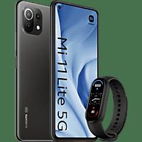"Móvil - Xiaomi Mi 11 Lite 5G, Negro, 128GB, 8GB RAM, 6.55"" FHD+, Snapdragon 780G, 4250mAh, Android + Mi Band 6"
