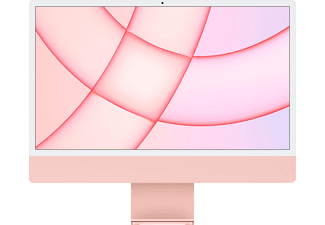 APPLE iMac 2021, All-in-One PC mit 23,5 Zoll Display, Apple M-Series Prozessor, 8 GB RAM, 256 GB SSD, Apple M1 Chip, Pink