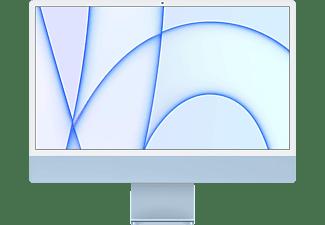 APPLE iMac 2021, All-in-One PC mit 23,5 Zoll Display, Apple M-Series Prozessor, 8 GB RAM, 256 GB SSD, Apple M1 Chip, Blau