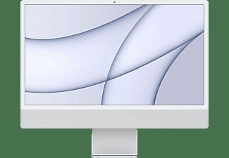 APPLE iMac 2021 MGTF3D/A, All-in-One PC mit 23,5 Zoll Display, Apple M-Series Prozessor, 8 GB RAM, 256 GB SSD, Apple M1 Chip, Silber