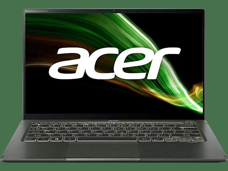 ACER Swift 5 SF514-55T-78P2 EVO mit Tastaturbeleuchtung, Notebook 14 Zoll Display Touchscreen, Intel Core i7 Prozessor, 8 GB RAM, 1 TB SSD, Intel Iris Xe Graphics, Grün