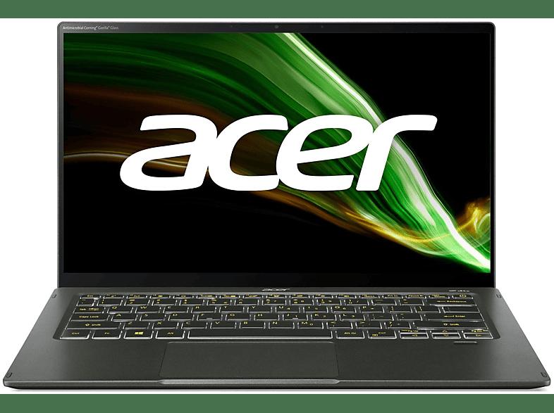 ACER Swift 5 SF514-55T-546P EVO mit Tastaturbeleuchtung, Notebook 14 Zoll Display Touchscreen, Intel Core i5 Prozessor, 8 GB RAM, 1 TB SSD, Intel Iris Xe Graphics, Grün