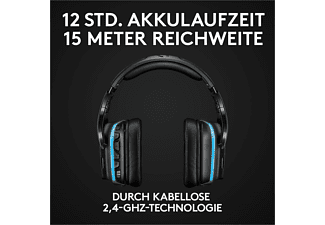 LOGITECH G935, Over-ear Gaming Headset Schwarz