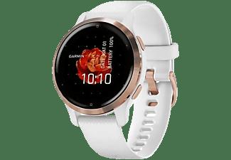 "Reloj deportivo - Garmin Venu 2S, 1.1"", AMOLED, 10 días, Para Android & iOS, Pulsioxímetro, 5 ATM, GPS, Blanco"