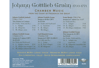 Augusta McKay, Georgina McKay, Eva Lymenstull, David Schulenberg - Graun,J.G:Chamber Music From Frederick The Great  - (CD)