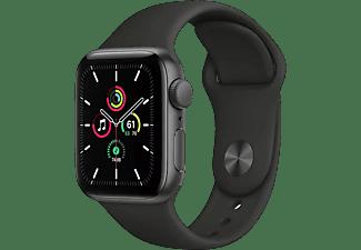 Apple Watch SE, GPS , 40 mm, Caja de aluminio en gris espacial, Correa deportiva negra