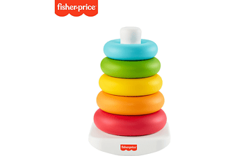 FISHER PRICE Eco Farbring Pyramide, Stapelspiel, 100% Bio-Kunststoff Babyspielset Mehrfarbig