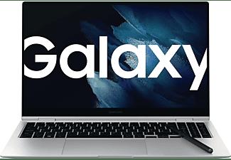 SAMSUNG GALAXY BOOK PRO 360 EVO, Convertible mit 15,6 Zoll Display, 8 GB RAM, 256 GB SSD, Intel Iris Xe Graphics, Mystic Silver