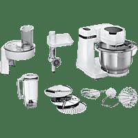 Robot de cocina - Bosch MUMS2EW30, 700 W, Bol 3.8 l, Acero inoxidable, 4 Potencias, Blanco