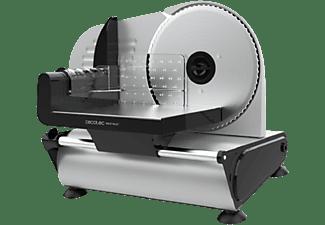 Cortafiambres - Cecotec 08021 Rock'nCut, 150 W, Precisión de grosor de 0 a 15 mm, Disco de 190 mm, Inox