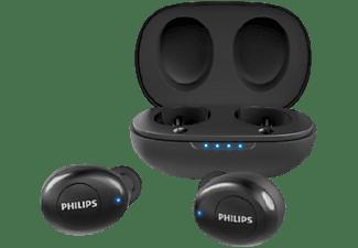 Auriculares inalámbricos - Philips UpBeat TAUT102BK/00, True Wireless, Autonomía 12 h, Bluetooth, Negro