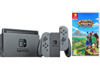 NINTENDO UE Switch Grau + Harvest Moon: One World