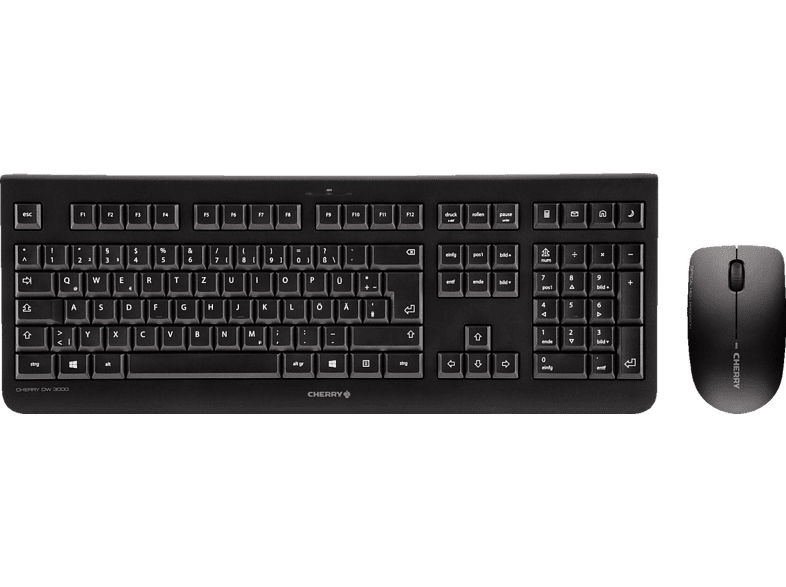 CHERRY DW 3000, Tastatur-Maus Set, Schwarz