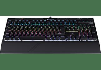 CORSAIR STRAFE RGB MK.2, mechanische Gaming-Tastatur mit Cherry MX Silent-Tasten, Gaming Tastatur, Mechanisch, Cherry MX Silent Black