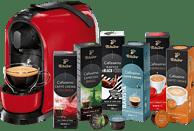 TCHIBO CAFISSIMO Pure + 60 Kapseln (Espresso, Filterkaffee, Caffè Crema) Kapselmaschine Rot
