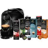 TCHIBO CAFISSIMO Pure + 60 Kapseln (Espresso,  Filterkaffee, Caffè Crema) Kapselmaschine Schwarz