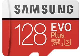 Tarjeta MicroSD 128 GB - Samsung EVO Plus (2020) 128 GB, 100MB/s lectura, 60 MB/s escritura, Clase 10, Blanco