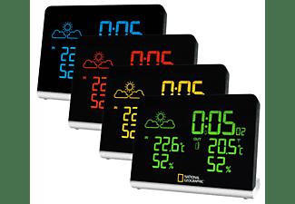 Estación meteorológica - Bresser National Geographic Multi Colour, Display LCD, Reloj DCF, Negro