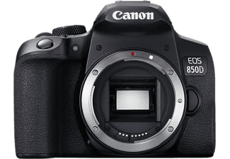 Cámara réflex - Canon EOS 850D (Cuerpo), 24.1 MP, 25 fps 4K, WiFi, Negro