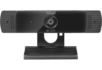Webcam - Trust GXT 1160, Video Full HD, Con micrófono, USB, Negro