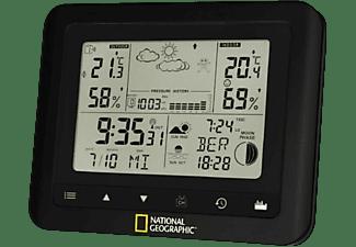 Estación meteorológica - Bresser National Geographic 9070100, Indica las fases de la luna, Fecha y hora, Negro