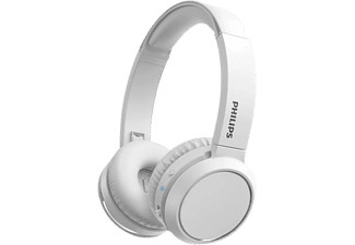 Auriculares inalámbricos - Philips TAH4205WT/00, Con Diadema, 29 h, Plegable, Bluetooth, USB Tipo-C, Blanco