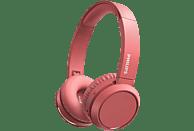 Auriculares inalámbricos - Philips TAH4205RD/00, Con Diadema, 29 h, Plegable, Bluetooth, USB Tipo-C, Rojo