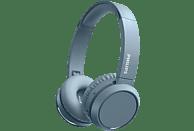 Auriculares inalámbricos - Philips TAH4205BL/00, Con Diadema, 29 h, Plegable, Bluetooth, USB Tipo-C, Azul