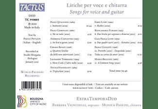 Extratempora Duo - LIRICHE PER VOCE E CHITARRA  - (CD)