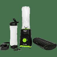 Batidora de vaso - Universal Blue Pack Sport Savage 3 en 1 USPAE3309-20, Negro + Hit Sound + Healthy Box
