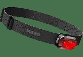 Linterna - Nebo NB7003, Con cinta elástica para cabeza, LED, USB, 400 LM, 10 h, IP67, 6 Modos, Negro