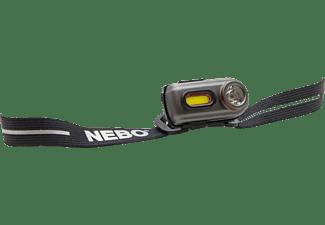 Linterna - Nebo NB7004, Con cinta elástica para cabeza, LED, USB, 400 LM, 10 h, IP67, 5 Modos, Negro