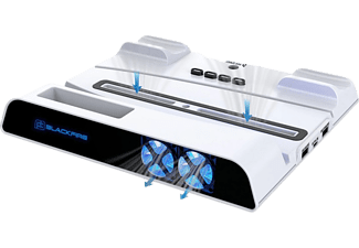 Base de carga - Blackfire Multifuction Led Charge Stand, Capacidad 2 mandos, Para mando DualSense PS5, Blanco