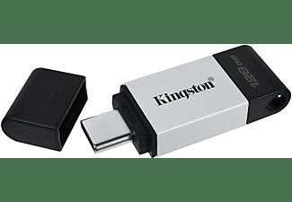 KINGSTON DT80 USB-Stick, 128 GB, 200 MB/s, Schwarz/Silber